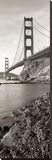Golden Gate Bridge Pano 1 Stretched Canvas Print by Alan Blaustein