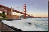 Golden Gate Bridge at Dawn Stretched Canvas Print by Alan Blaustein