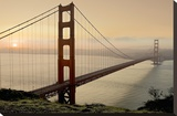 Golden Gate Sunrise 2 Stretched Canvas Print by Alan Blaustein
