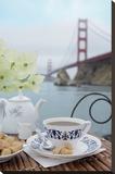 Dream Cafe Golden Gate Bridge 16 Stretched Canvas Print by Alan Blaustein