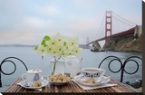Dream Cafe Golden Gate Bridge 15 Stretched Canvas Print by Alan Blaustein