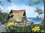 Hawaiian Hideaway Stretched Canvas Print by Scott Westmoreland