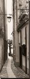 La Strada, Portofino Stretched Canvas Print by Alan Blaustein