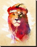 Gym Lion Stretched Canvas Print by Robert Farkas