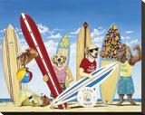 K-9 Surf Club Stretched Canvas Print by Scott Westmoreland