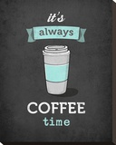 It's Always Coffee Time Stretched Canvas Print by Amalia Lopez