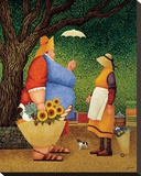 Market Day Stretched Canvas Print by Lowell Herrero