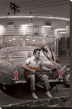 Legendary Crossroads Stretched Canvas Print by Chris Consani