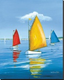 Regata de Newport Reproducción en lienzo de la lámina por Sally Caldwell Fisher