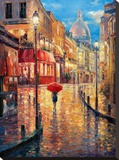 Montmartre Evening Stretched Canvas Print by Haixia Liu