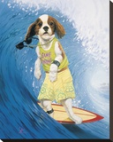 Surf Dawg Stretched Canvas Print by Scott Westmoreland