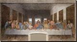 La última cena Reproducción en lienzo de la lámina por Leonardo Da Vinci