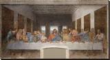 The Last Supper Stretched Canvas Print by Leonardo Da Vinci