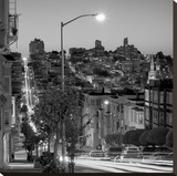 San Francisco Skyline 2 Stretched Canvas Print by Alan Blaustein
