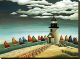 Rainbow Fleet Stretched Canvas Print by Lowell Herrero