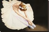 The Ballerina Stretched Canvas Print by Karl Black