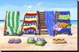 Sandals and Seats Stretched Canvas Print by Scott Westmoreland