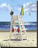 Pelican Perch Stretched Canvas Print by Scott Westmoreland