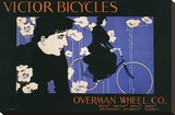 Victor Bicycles (horizontal) Stretched Canvas Print by William Henry Bradley