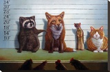 Usual Suspects Stretched Canvas Print by Lucia Heffernan