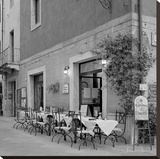 Tuscan Caffe 33 Stretched Canvas Print by Alan Blaustein