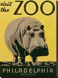Visit the Zoo Stretched Canvas Print by  Unknown