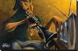 Urban Tunes Stretched Canvas Print by David Garibaldi