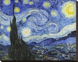Starry Night Stretched Canvas Print by Vincent van Gogh