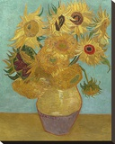Sunflowers, 1889 Stretched Canvas Print by Vincent van Gogh