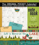 Lake Life - 2017 Calendar with Pocket Calendars