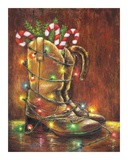 Christmas Boots Prints by Vickie Wade