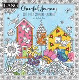 Cheerful Journey Coloring - 2017 Boxed Calendar Calendars