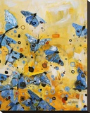 Metamorphosis Yellow Stretched Canvas Print by Britt Freda