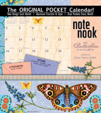 Butterflies - 2017 Calendar with Pocket Calendars