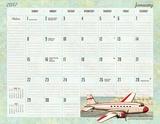 Vintage Travel - 2017 Desk Pad Calendars