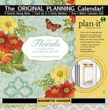Florals - 2017 Planning Calendar with Magnetic Hanger Calendars
