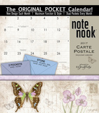 Carte Postale - 2017 Calendar with Pocket Calendars