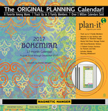 Bohemian - 2017 Planning Calendar with Magnetic Hanger Calendars