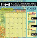Bohemian - 2017 File Folder Calendar Calendars