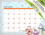 Cheerful Journey Coloring - 2017 Desk Pad Calendars