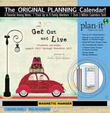Get Out And Live - 2017 Planning Calendar with Magnetic Hanger Calendars