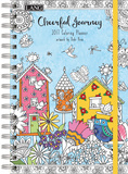 Cheerful Journey Coloring - 2017 Planner Calendars
