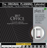 Office - 2017 Planning Calendar with Magnetic Hanger Calendars