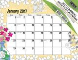 Art & Soul Coloring - 2017 Desk Pad Calendars