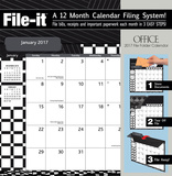 Office - 2017 File Folder Calendar Calendars