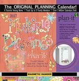 Multiple Blessings - 2017 Planning Calendar with Magnetic Hanger Calendars