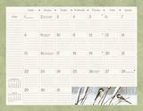 Birds In The Garden - 2017 Desk Pad Calendars