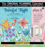 Fanciful Flight - 2017 Planning Calendar with Magnetic Hanger Calendars
