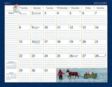 Lang Folk Art - 2017 Desk Pad Calendars
