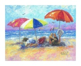 At the Beach I Posters af Vickie Wade